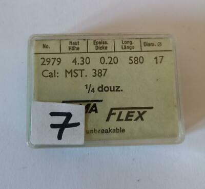 New Old Stock - Pack Of Three Fama Flex  Pocket Watch Main Springs - Swiss Made