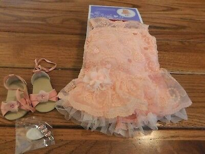 American Girl Truly Me Shimmer And Lace Party Dress Nib Free Shipping Retired