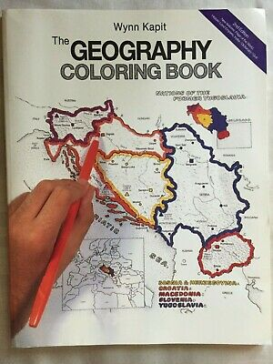 THE GEOGRAPHY COLORING Book (2nd Edition), Kapit, Wynn, Good Book ...