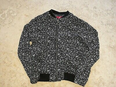 YD at Primark Black and White Floral Bomber Jacket Age 10-11