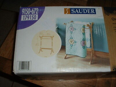 NEW Sauder Wood Quilt Rack 9150-672 3 Hanging Rods NIB