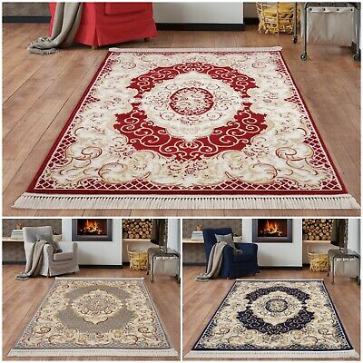 Classic Traditional Vintage Style Area Rugs & Runner Oriental Design Carpet Mat