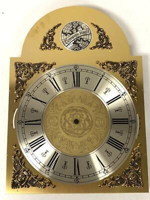 Tempus Fugit Hermle Kieninger Dial Longcase Music Large Brass Silver Arched Dial