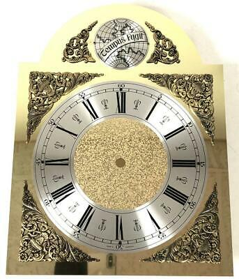 Tempus Fugit Hermle Kieninger Dial Longcase Brass Brass & Silver Arched Dial