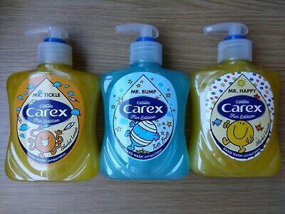 Cussons Carex 3 X Mr Men Handwash Cream Tuitti Fruiti & Sherbet Lemon 3 X 250ml