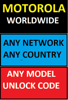 Motorola Uk Usa Europe Worldwide Unlocking Code Only Network Any Country Any Net