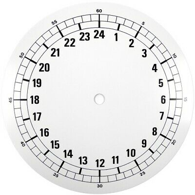 White 24 Hour Clock Enamel Dial 185mm Black Arabic Figures Clocks - CD3185