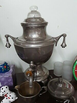 Coffee urn vintage With Sugar And Creamer