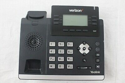 Lot of 4 Yealink Verizon SIP-T41P VoiP Phones (Cracked Display) - BASE ONLY