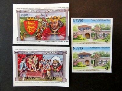 Nevis, Proofs, Imperf (1984-1985) Mnh