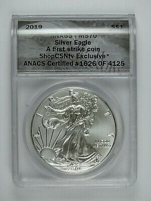 2019 P American Silver Eagle ANACS MS70 - First Strike