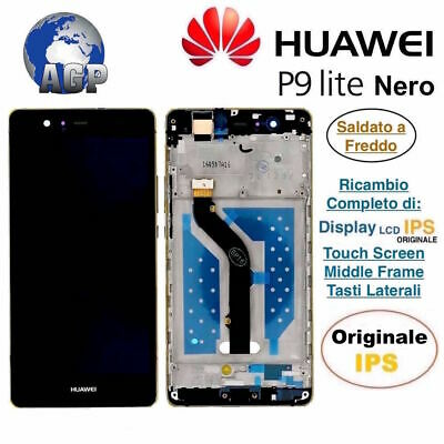 Display LCD Touch Screen Middle Frame HUAWEI P9 Lite VNS-L31 L23 Nero Originale
