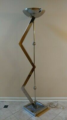 JEFF MEHRINGER Torchiere Floor lamp Post Modern style stainless steel