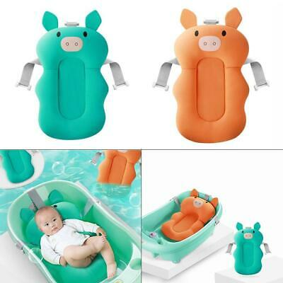 Portable Baby Shower Air Cushion Bed Infant Bath Pad Non-Slip Bathtub Mat New AU