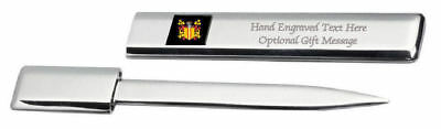 Berriage Family Crest Surname Coat Of Arms Heraldry Engraved Letter Opener