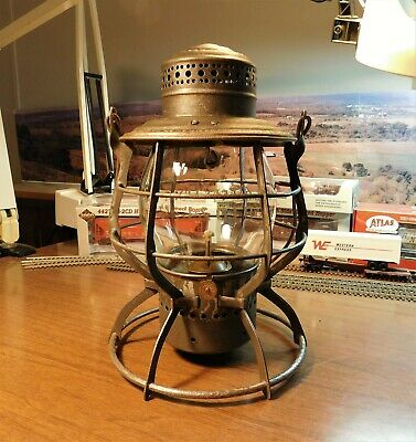 "UNION PACIFIC RAILROAD LANTERN A&W COMPANY THE ""ADAMS"" St.J.& G.I. Globe 1886"