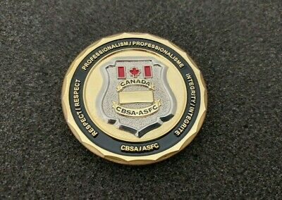 Canada Border Services Agency Professionalism Respect Integrity -Challenge Coin