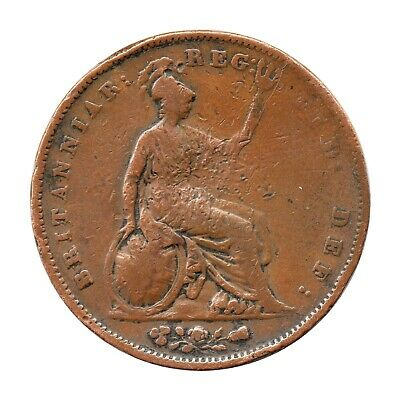 KM# 739 - One Penny - Victoria - Great Britain 1853 (Poor)