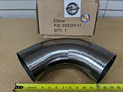 """90° Exhaust Pipe PDC # SRE590-11 OD/OD 5"""" Steel 90 Degree Short Radius Elbow"""