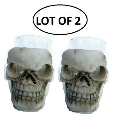 Skull Shot Glass with Skeleton Face Halloween Party Accessory 0134 []