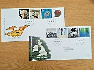 R......2 X  GB FDCs Mind & Matter  and Stone & Soil 2000