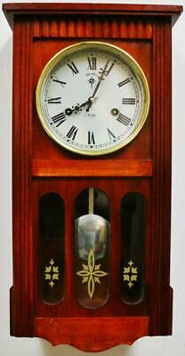 Vintage German Mahogany Month Duration Musical Westminster Chime Wall Clock