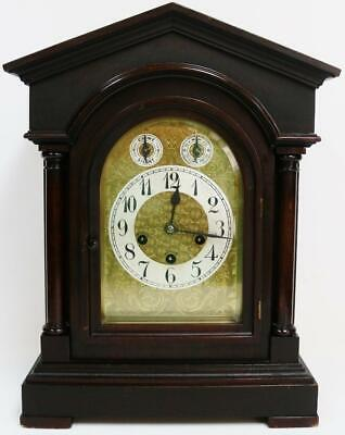 Antique Junghans 8 Day Architectural Westminster Chime Musical Bracket Clock