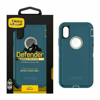 OtterBox Defender Series Rugged Protection Blue Case for Apple iPhone X and XS