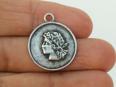 Rare Ancient Roman Amulet Metal Silver Color Very Stunning