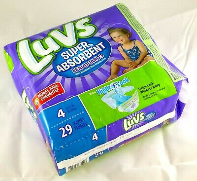 Diapers Size 4 Luvs Ultra Leakguards Case Box 88 Count (4 Packs of 22)