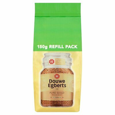 Douwe Egberts Pure Gold Instant Coffee Refill 150g - Free Shipping