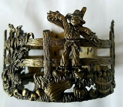 Scents & Accents Vintage Brass Color 1998 Fine Pewter Candle Holder Made in USA