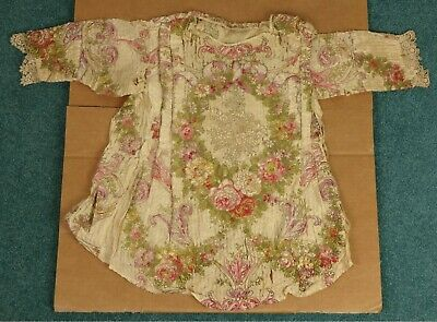 Antique Brocade Study Piece Victorian Clothing Shirt Robe 18th or 19th Century