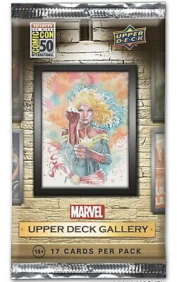 Upper Deck Marvel Gallery Sdcc 2019 Pack Sealed Card Set pack