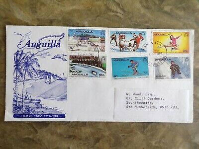Anguilla 1980 Winter Olympics First Day Cover, SG 389-394