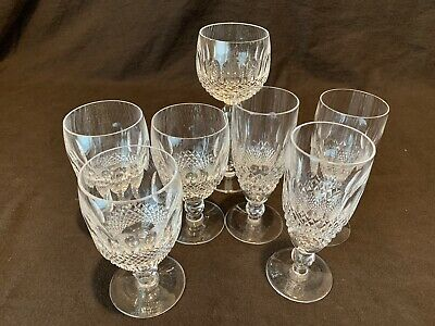 Waterford Crystal Colleen 3 Champagne Flutes, 1 Hock 3 Large Claret Wine AS IS