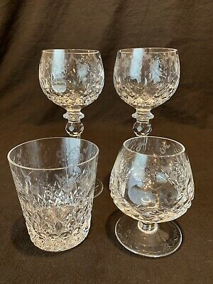 Rogaska Crystal Gallia 2 Wine Hocks, Brandy Snifter, Double Old Fashioned AS IS