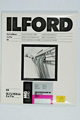 "Ilford MG III RC Rapid 25 Sheets 8x10"" Unopened Photo Paper black & white"