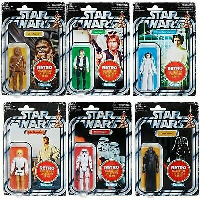 Star Wars The Retro Collection Action Figures Wave 1 Set of 6 Pre-Order