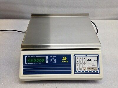 Acom PC-100W Precision Weighing Scale w Case - 10kg Max, 20g Min - Used