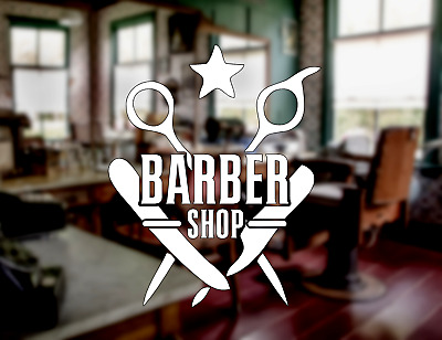 Barber Shop Custom Window Sign Sticker Business Barbershop Decal Hair Dresser