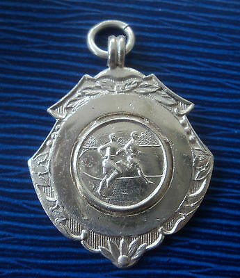 Vintage Silver Athletics / Running Fob Medal 1957 Fattorini & Sons  not engraved