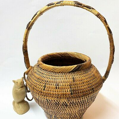 PNG Papua New Guinea Buka Basket - Vintage 1980s, Great Condition, Without Lid