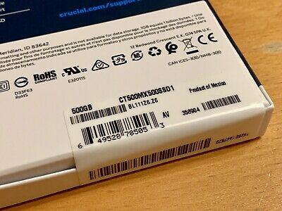 Crucial MX500 500 GB,Internal,2.5 inch (CT500MX500SSD1) Solid State Drive