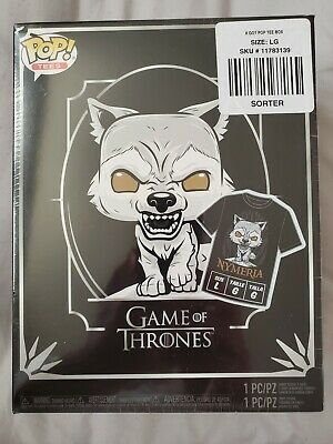 Game Of Thrones Nymeria Funko Pop #76 x Tee (L) [Hot Topic Exclusive]