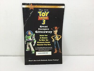 Disney Movie Rewards - 100PTS -Toy Story 3 DVD Points Only No Movie Included