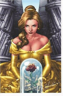 "BELLE BEAUTY & THE BEAST SDCC 2019 ART PRINT - SIGNED JAY ANACLETO 11""x17"""