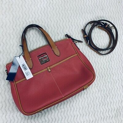 NWT Dooney & Bourke Small Daniela Strawberry Pink Satchel With Strap $228