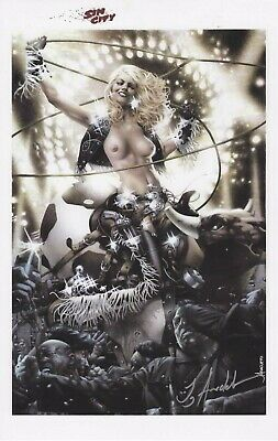 "SIN CITY - NANCY TOPLESS SDCC 2019 ART PRINT - SIGNED JAY ANACLETO 11""x17"""