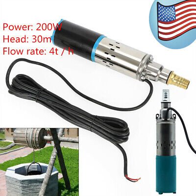 Stainless Steel Submersible Pump Deep Well 4M³/H 24V Electric Water Pump Head